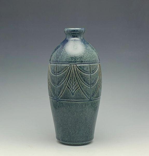 Vase in denim blue
