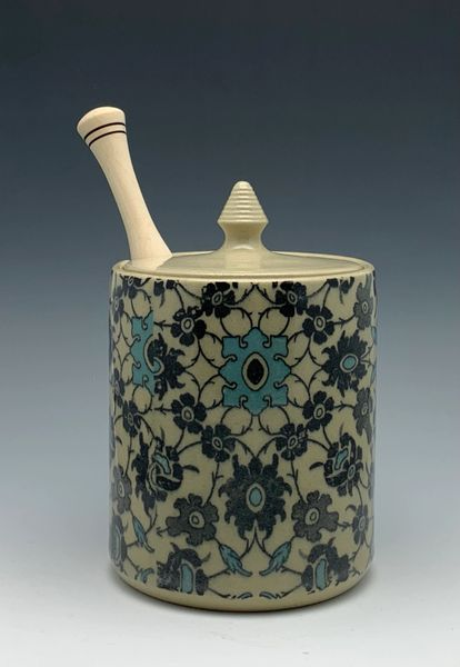 Patterned Honey Pot
