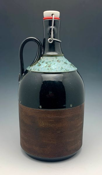 Rusty Brown and Moonstone Growler