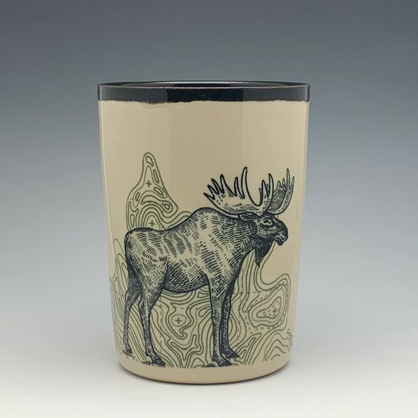 Topo Moose Pint Glass