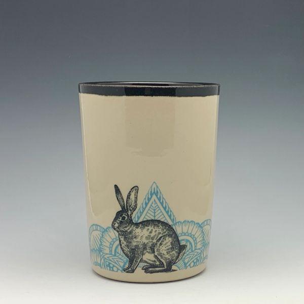 Turquoise Bunny Pint