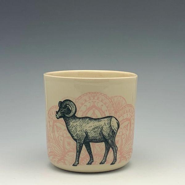Bighorn Sheep Mandala Cup, 12oz