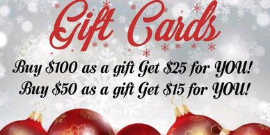 Holiday gift card gift certificate
