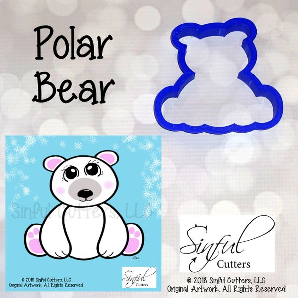 Polar Bear / Teddy Bear - Cookie / Fondant Cutter