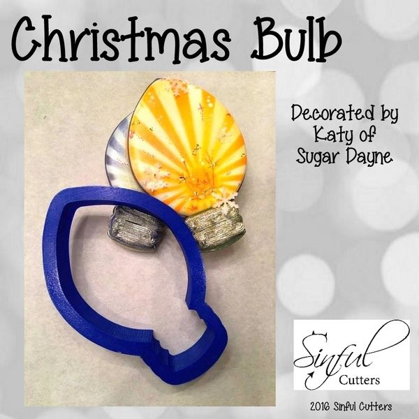 Christmas Light Bulb Cookie And Fondant Cutter