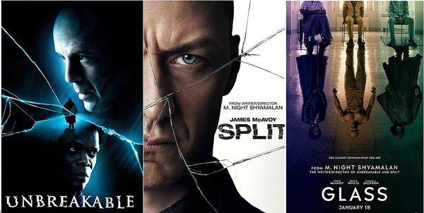Triple Pack: Unbreakable, Split, Glass