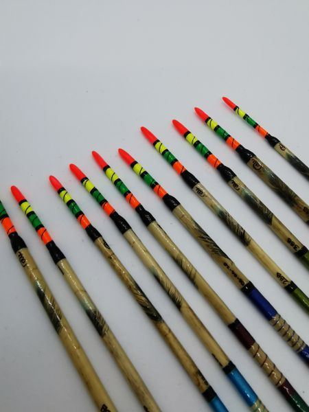 x20 Handmade Scorched Reed Waggler Floats