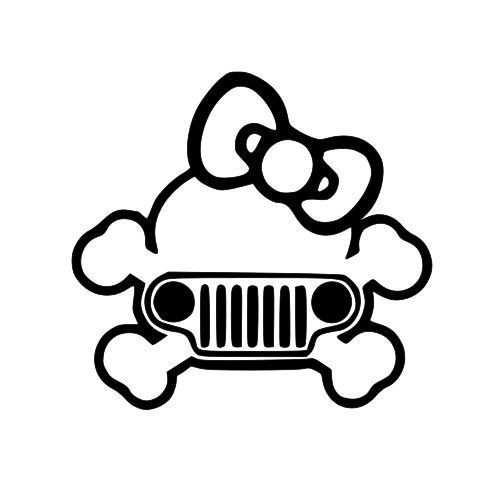Cross Bones with Bow and Jeep Grille