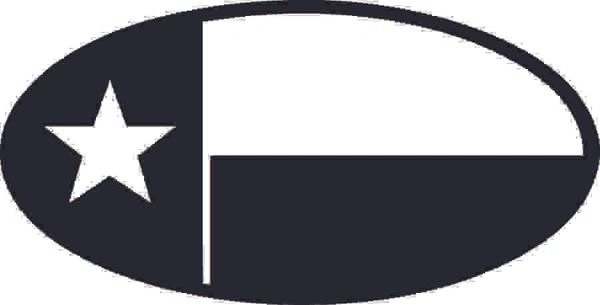 Texas Flag Oval