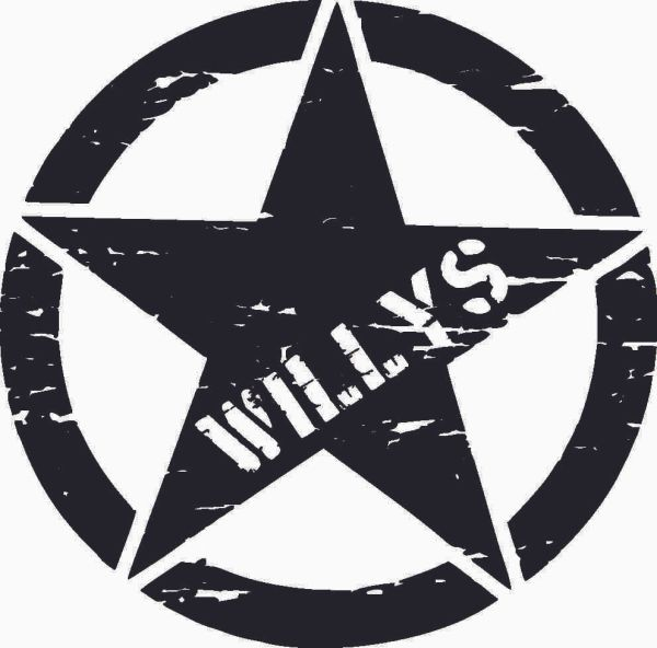 Willys Star Distressed