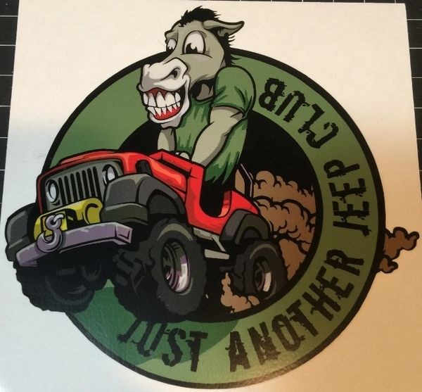 Just Another Jeep Club Color Decal