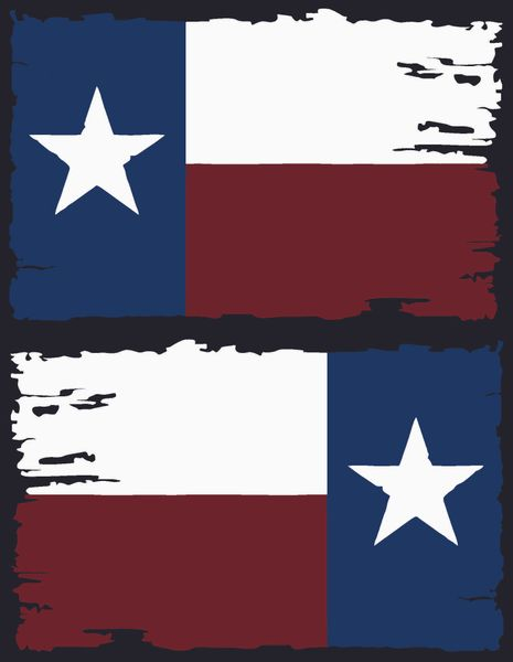 Texas Flag Distressed Set