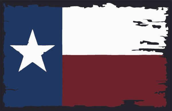 Texas Flag Distressed Single
