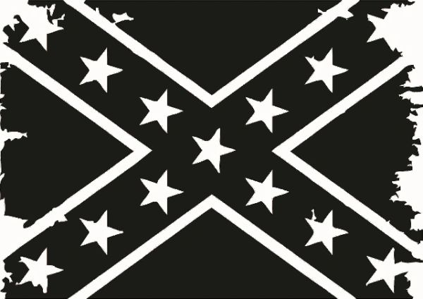 Confederate Flag Distressed