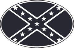 Confederate Flag Oval