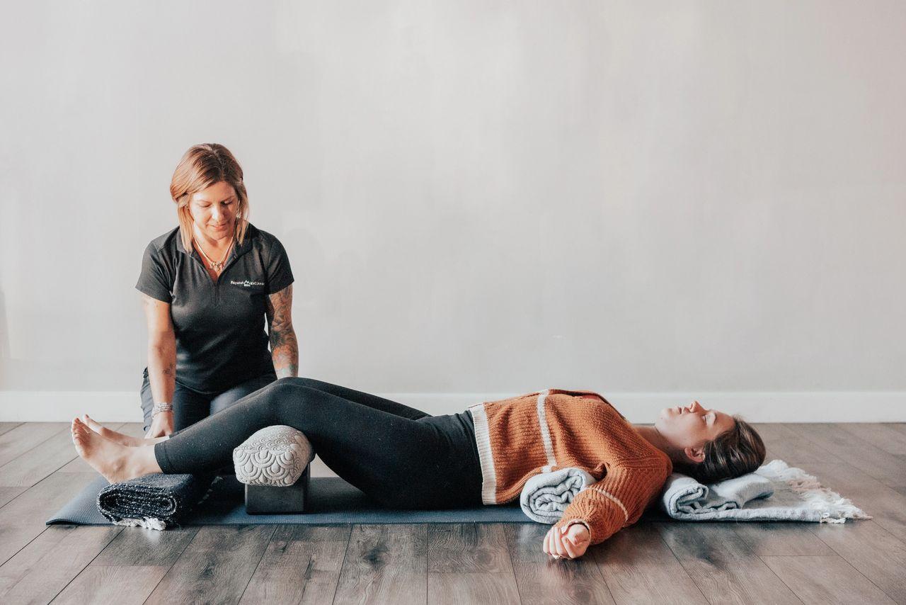 Mountain Brook Pose Restorative Yoga
