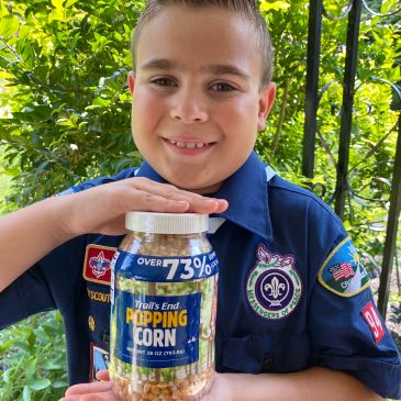 Buy Cub Scout popcorn and other snacks or make a donation to send popcorn to troops overseas