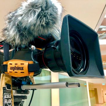 Sony video camera location production Angenieux