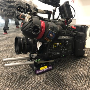 Sony FS7 location filming Zacuto viewfinder