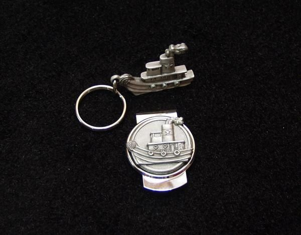 Tugboat Pocket Set (Key Chain & Money Clip)