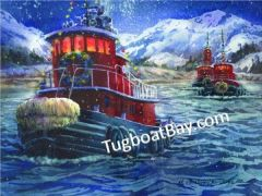 """Tugboat Load"" Christmas Card #1"