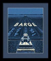 """Framed """"Barge"""" Rare Promotional Poster"""