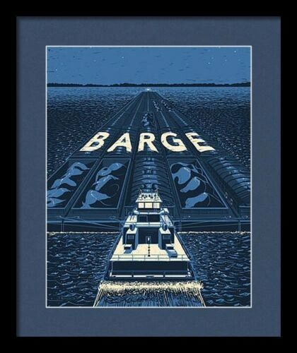 "Framed ""Barge"" Rare Promotional Poster"