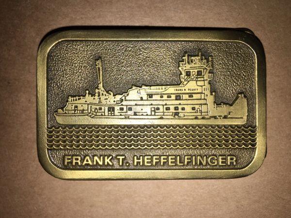 Towboat Belt Buckle m/v Frank T. Heffelfinger Peavey / Canal Barge Lines