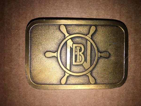 Towboat Belt Buckle - Norman Brothers Co. Mile 207 Upper Mississippi River Company