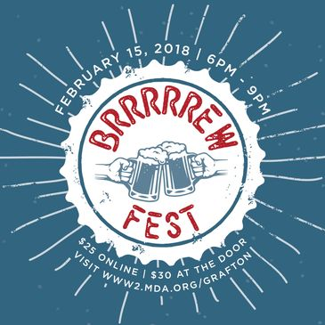 an craft beer festival event poster designed for a charity
