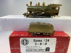 HO Brass Westside 2-8-0 Sierra #24 Unpainted