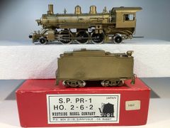 HO Brass Westside SP PR1 2-6-2 Unpainted