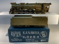 HO Brass United C&O 2-8-4 Kanawha - Unpainted