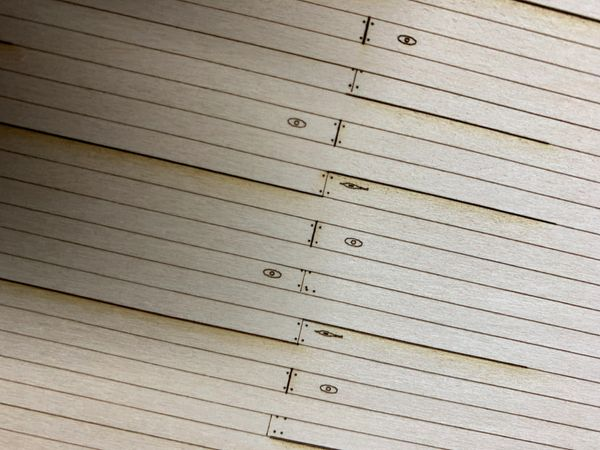 """O Scale 6"""" Scribe Sheeting (4""""x11-7/8"""" +/-) w/Knots & Nails - NEW!!!"""