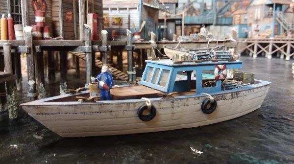 HO Scale 34' Utility Boat Work & Pleasure Cruiser - Jason Jensen Trains