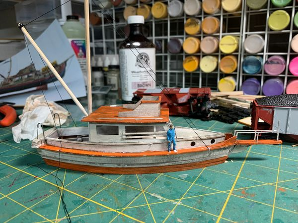 "HO Scale Fishing Boat ""Cap'n"" - Jason Jensen Trains"
