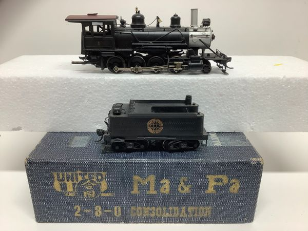 HO Brass United Ma&Pa 2-8-0 Custom - AS IS!!!