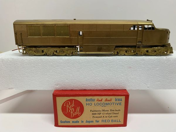 HO Brass Red Ball FM Erie Built A Unit - AS IS!!!