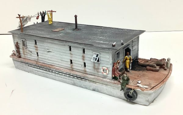 HO Canal/River Barge - Houseboat #1