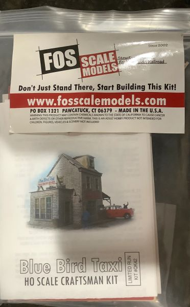 HO FOS Scale Models Red Bird Taxi