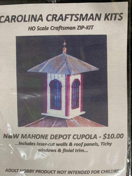 HO N&W Mahone Style Depot Cupola