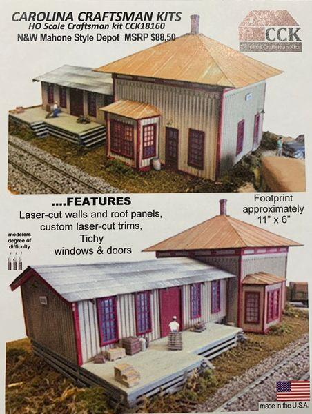 HO N&W Mahone Style Depot
