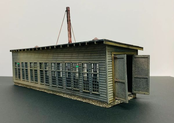 HO Craftsman KIT WM Thomas WVa. Single Stall Engine House