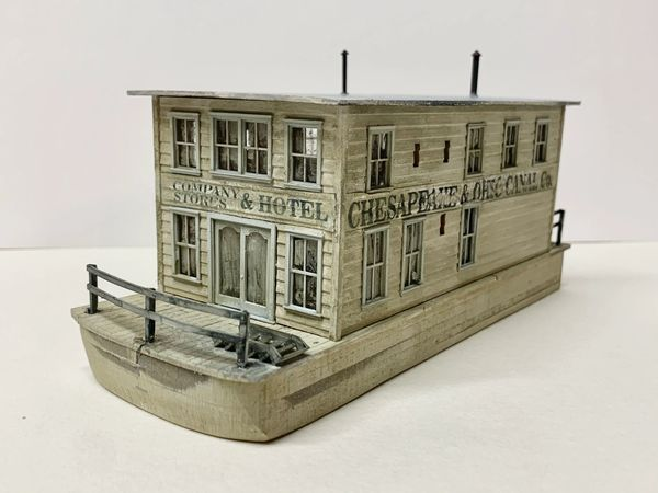 HO Canal/River Barge Company Stores & Hotel - NEW!!!