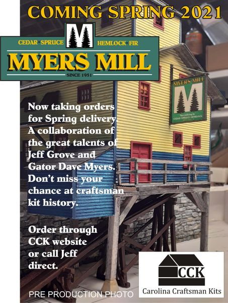 HO Myer's Mill - Diorama Kit - SHIPPING In March!!!