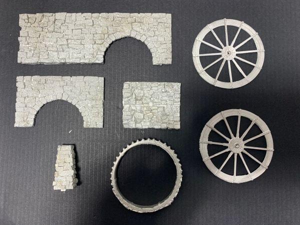 HO FSM Water Wheel Casting Set