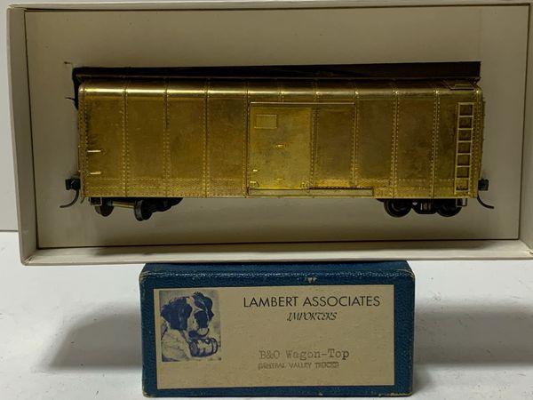 HO Brass Lambert B&O Wagontop Boxcar - AS IS!
