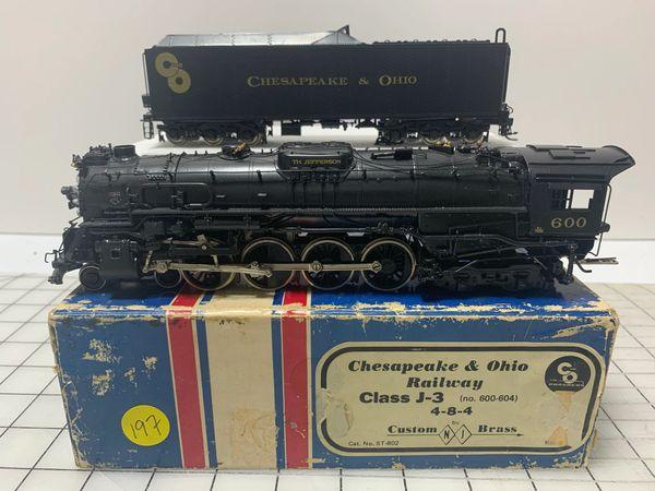 HO Brass NJCB C&O Class J 4-8-4 DCC w/Sound - AS IS!