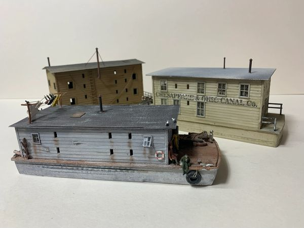 HO Canal/River Barge Set A - includes 3 barges SAVE 25%!!!