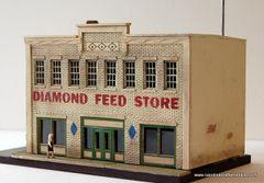 DIAMOND FEED STORE - HO Scale Craftsman KIT
